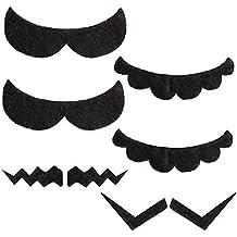 Katara 1826 - Set de 6 Bigotes Autoadhesivos Super Mario Bros, Accessorios de Disfraz - Carnaval - Adultos / Niños