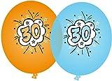 8 Luftballons * SUPER ... ICH BIN JETZT 30 * für den 30. Geburtstag von DH-Konzept // Comic Deko Ballons Party Set