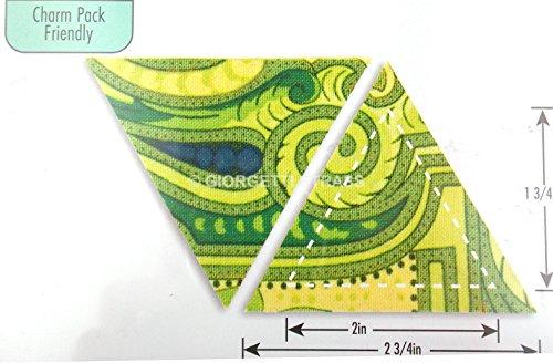 Fustella fustelle Bigz Triangolo triangoli equilatero 6,35cm x 6,99cm Quilting Patchwork Big Shot Sizzix 659816 per carta cartone cartoncino feltro pelle...