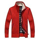 YeYan Hommes Motif Pull Cardigans Manteau Veste En Maille Sweatshirt Manches Longues Avec Fermeture A Glissière