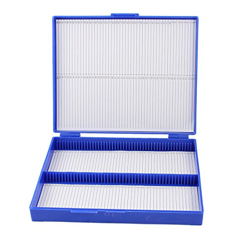 ROYAL BLUE PLASTIC RECTANGLE HOLD 100 MICROSLIDE SLIDE MICROSCOPE BOX REVIEWS PROFESSIONAL MEDICAL SUPPLIES