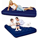 BESTWAY INFLATABLE AIR BED SINGLE DOUBLE MATTRESS HOME CAMPING LUXURY OUTDOOR (SINGLE)