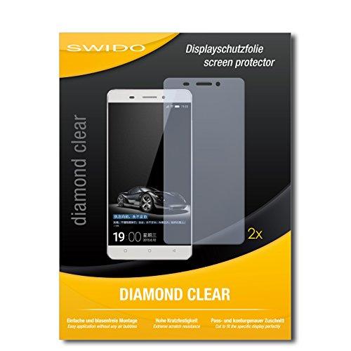 SWIDO 2 x Bildschirmschutzfolie Gionee Marathon M5 Schutzfolie Folie DiamondClear unsichtbar