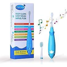 Fairywill Cepillo de dientes eléctrico para niños Batería con temporizador inteligente Sonic Cepillo de dientes con