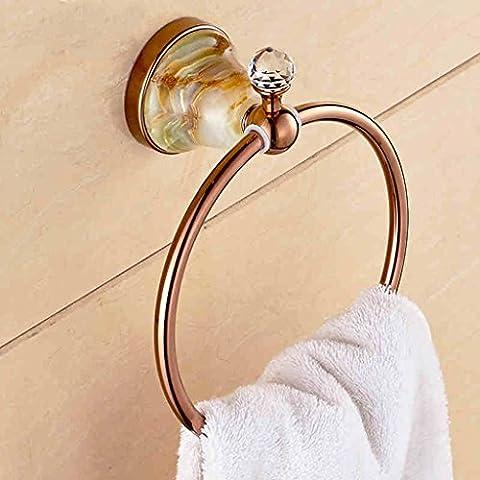 Anello di tovagliolo del tovagliolo European Copper Hanging oro rosa giada anello di tovagliolo - Oro Giada Anello