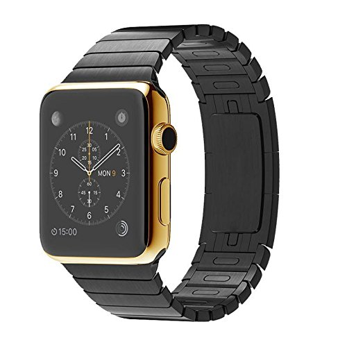 Diamond Cover 515523 High Class Apple Watch 42mm Gliederarmband black 24k gold