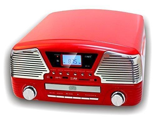 camry-cr-1134-r-radio-und-schallplattenspieler-mit-cd-mp3-usb-aufnahmefunktion-rot
