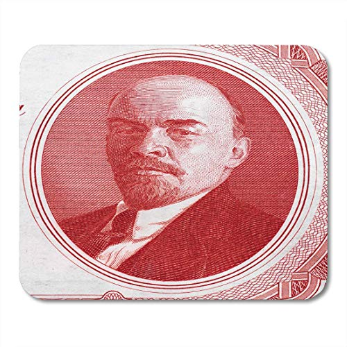 AOHOT Mauspads Vladimir Lenin Portrait on Russia Rouble 1937 Banknote Closeup Russian Communist Revolutionary Politician Mouse pad 9.5