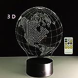 ATD Amerikanische Karte Globus 3D Erstaunliche Optische Täuschung Bunte Farbverläufe Kinder Bedside LED Schreibtisch Lampen Nachtlicht
