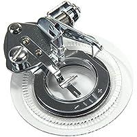 niceeshop(TM) Plata/ Blanco Pie Prensatelas de Máquina de Coser Flor del Acero Inoxidable para El Hermano, Babylock, Viking, Janome, Kenmore