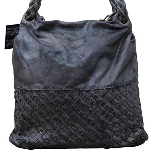 My-Musthave , Cabas pour femme gris gris Centre marron foncé