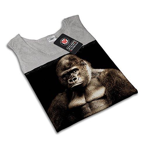 Wild Tier Gorilla Tier König Dschungel Damen S-2XL Muskelshirt | Wellcoda Grau