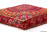 Handicraft-Palace indischen Sofa Big Platz Pfau Mandala Boden Kissen Bezug Pouf Kissen Schutzhülle Bohemian Ottoman Meditation Überwurf groß 8.978,9cm