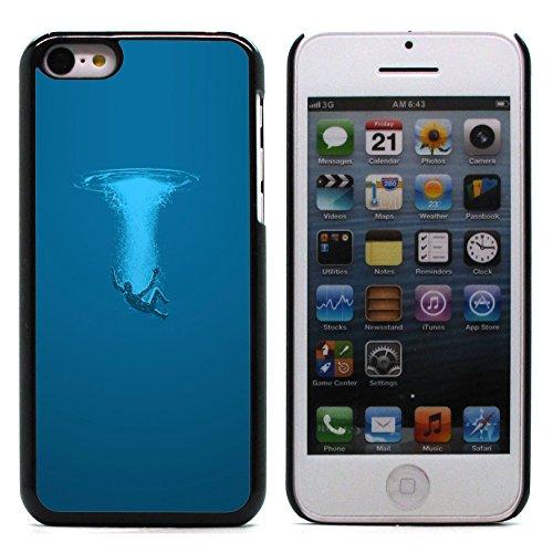 Graphic4You Curves On Canvas Digital Art Muster Design Harte Hülle Case Tasche Schutzhülle für Apple iPhone 5C Design #2