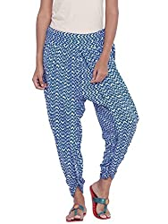 9rasa Women Cotton Viscose Printed Dhoti Pants