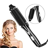Mini arricciacapelli pieghevole dei capelli, bigodino di capelli ionico negativo riscaldato elettrico anti scottatura per capelli serici, styling caldo(EU-Stecker(110-240V))