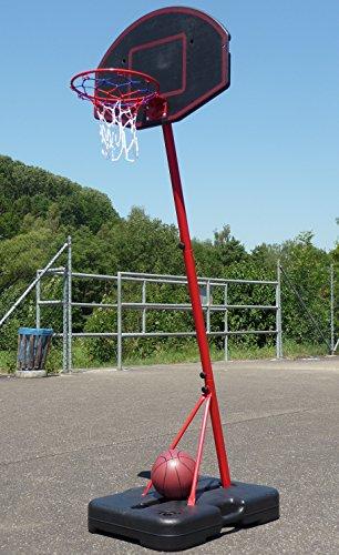 Mobiles KINDER Basketballständer SET mit Standfuß + Ball + Pumpe
