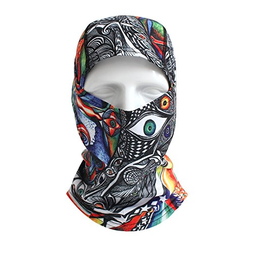 Radfahren APS Batfox Motorrad Reiten Schutz Face Mask CS Maske Radfahren Mask Masquerade Maske Halloween Party Maske Personalisierte Kopfbedeckung Sturmhaube, colorful (Maske Personalisierte)