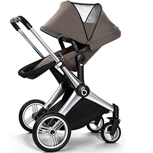 LUXURY FOLDING BABY JOGGER/ BABY STROLLER/ BABY CARRIAGE  4 WHEELS PUSHCHAIR  BIDIRECTIONAL  SUV SUSPENSION  CAN SIT & LIE