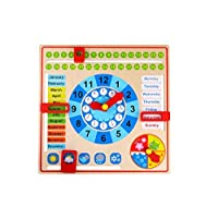 Tooky Toys 921 TKC258 My Calendar with Season Clock & Year & Months Blocks Wooden Toy Premium Quality-Sameday Dispatch-TKC258-S13