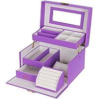 Songmics Portagioie Scatole per gioielli Scatola Custodia box JBC114P
