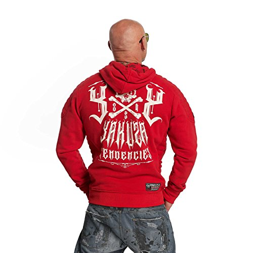 Yakuza Original Herren Destructive Tendencies Hoodie Kapuzenpullover Ribbon Red