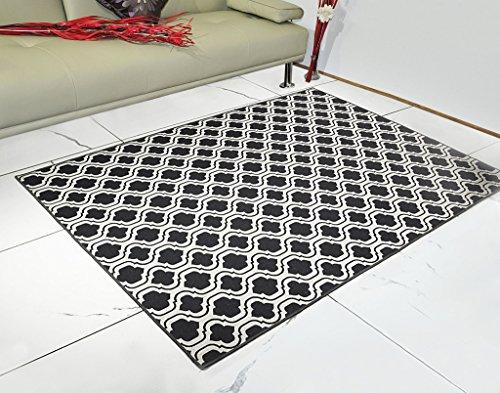 Saral Home Abstract Design Jacquard Floor Carpet -150x210 cm