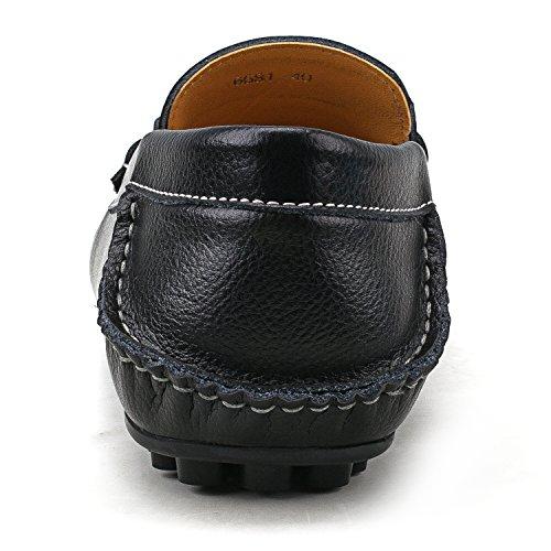 Shenduo - Mocassins pour homme cuir - Loafers confort - Chaussures de ville D6681 Noir