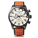 CURREN 8245 Herrenuhr Mode Casual Business Komplette Kalender Armbanduhren Kreative Oberfläche