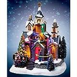 AC-Déco Villaggio di Natale-Chiesa luminoso-Decorazione di Natale