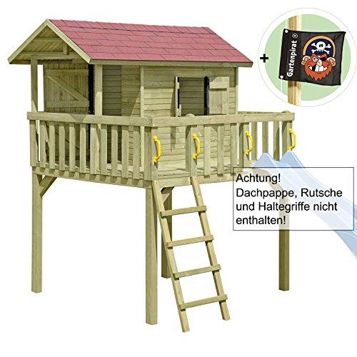 Gartenpirat Kinderspielhaus, Stelzenhaus MAXI aus Holz