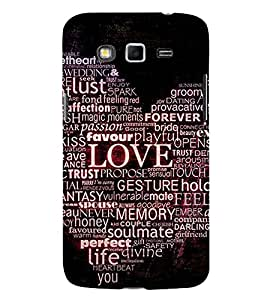Heart and Passion 3D Hard Polycarbonate Designer Back Case Cover for Samsung Galaxy Grand 2 :: Samsung Galaxy Grand 2 G7105 :: Samsung Galaxy Grand 2 G7102
