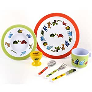 7 Piece Children's Melamine Gift Set -JUNGLE FRIENDS