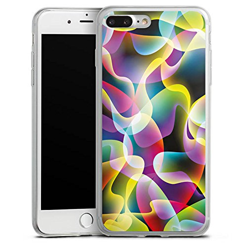 Apple iPhone 8 Plus Slim Case Silikon Hülle Schutzhülle Farben Muster Bunt Silikon Slim Case transparent
