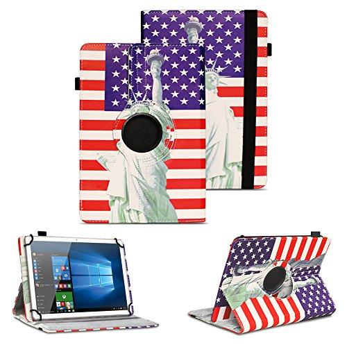 NAUC Tablet Schutz Hülle XORO TelePAD 10A3 Tasche Schutzhülle Universal Case Cover, Farben:Motiv 11
