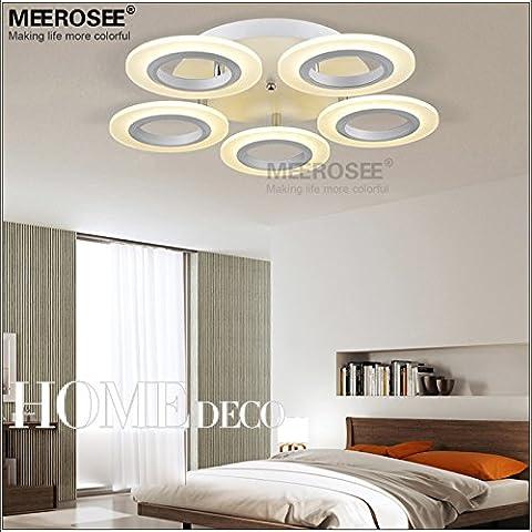 Anillo LED Lámpara de techo blanco acrílico empotradas LED Lámpara de techo de PASILLO Pasillo porche luz diferentes tamaños,5 anillos D550mm 40W #325