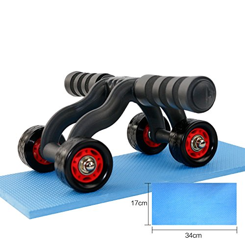 IVIM Ab Roller Wheel mit 4 Rollen, Effizienter Bauchtrainer für Oberkörpertraining der Bauch-, Rücken- und Schulternmuskulatur