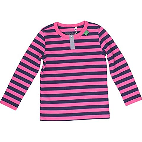 Fred's World by Green Cotton Stripe Granny, T-Shirt Fille, Rose-Rosa (Magenta 017203601), 8 Ans
