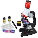 EchoAcc® Wissenschaft Mikroskop --- 100x 400x 1200x mit Einigen Experimentellen Werkzeuge (Sammelflasche, Rutsche, Standardfach, Pinzette), für Kinder und Studenten