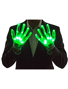 Neon Nightlife Guantes Light Up del muchacho, LED, verde