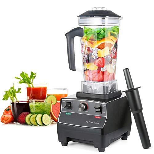 QINAIDI Licuadora eléctrica para triturar Hielo, Frutas congeladas, licuadora Profesional de mostrador, con 68 oz de Jarra trituradora Total