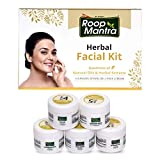 Roop Mantra Herbal Facial Kit 75gm for Glowing, Flawless & Moisturized Skin Tone (Cleansing Milk, Face Scrub, Massage Gel, Face Pack, Nourishing Cream)