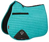 LeMieux Unisex Prosport GP Lustre/Suede Square Saddle Cloth, Turquoise, Large