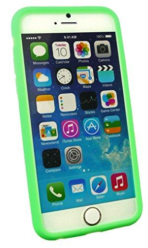 """Emartbuy® Apple Iphone 6 6G 6S 4.7 """" Zoll Silicon Hülle Schutzhülle Case Cover Hot Rosa Grün Silikon"""