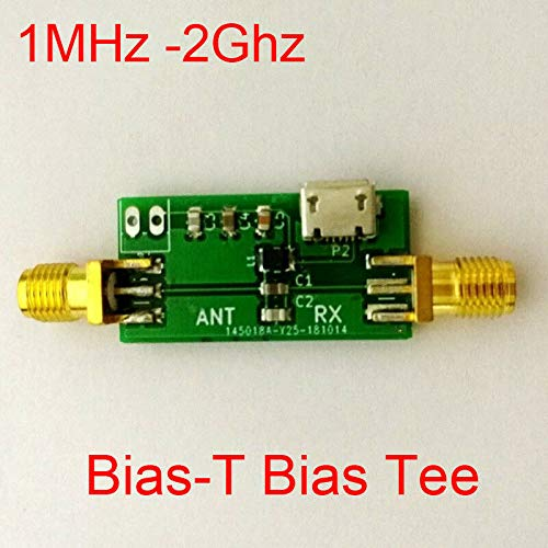 FidgetKute Bias-T Bias-T 1MHz -2000MHz Bias Tee Aktive Antenne Bias SDR GPS F Scham Radio Verstärker -