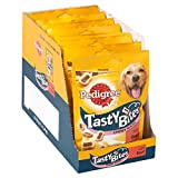 Pedigree Tasty Bites Dog Treats Chewy Slices with Beef, 155g (Pack of 8)