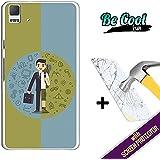 Becool® Fun- Funda Gel Flexible para Bq Aquaris E5 4G [ +1 Protector Cristal Vidrio Templado ]Carcasa TPU fabricada con la mejor Silicona, protege y se adapta a la perfección a tu Smartphone y con nuestro exclusivo diseño Trabajo y vacaciones
