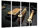 Cuadro Fotográfico Musica, Instrumento Guitarra Gibson, Rock Tamaño total: 131 x 62 cm XXL