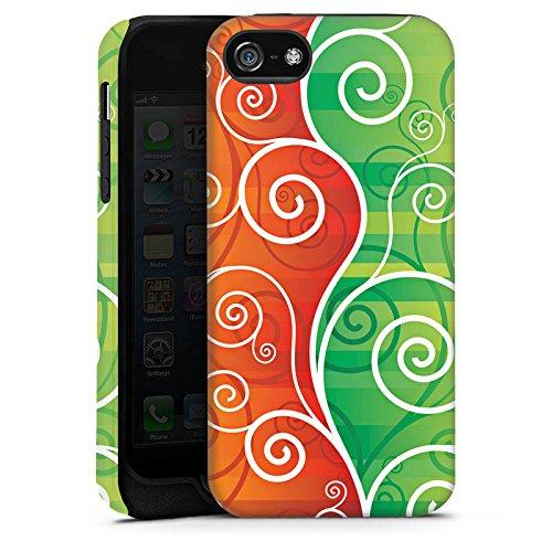Apple iPhone X Silikon Hülle Case Schutzhülle Floral Schnörkel Ranken Tough Case matt