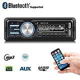 Autoradio, Rixow Auto radio Bluetooth Car Stereo Player, FM Lettore Musicale, MP3 Player, Chiamate vivavoce, USB, Micro SD (TF), AUX, Porta di ricarica, con Spina ISO e Telecomando